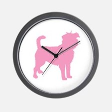 Pink Affenpinscher Wall Clock