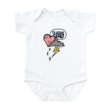 sad heart Infant Bodysuit