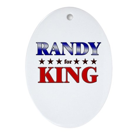 RANDY for king Oval Ornament