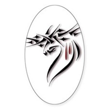 Jesus Crown of Thorns Oval Decal