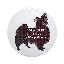 BFF Papillon Ornament (Round)
