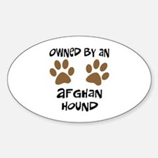 Owned By An Afghan Hound Oval Decal