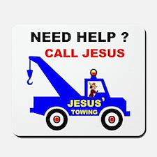 JESUS TOWING Mousepad