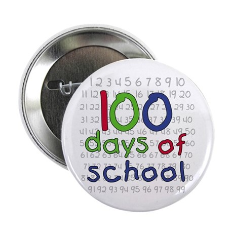 """Numbers 100 Days 2.25"""" Button (100 pack)"""