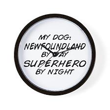 Newfoundland Superhero Wall Clock