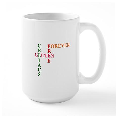 Celiacs Gluten Free Forever Large Mug