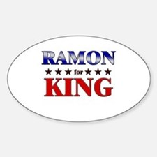 RAMON for king Oval Decal