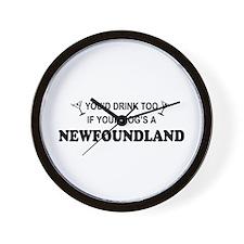 Newfoundland You'd Drink Wall Clock