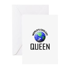 World's Coolest QUEEN Greeting Cards (Pk of 10)