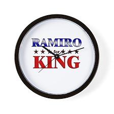 RAMIRO for king Wall Clock