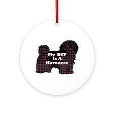 BFF Havanese Ornament (Round)