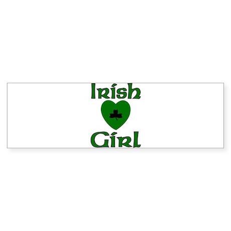Irish Girl Bumper Sticker