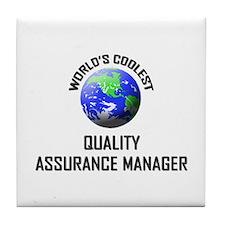 World's Coolest QUALITY ASSURANCE MANAGER Tile Coa