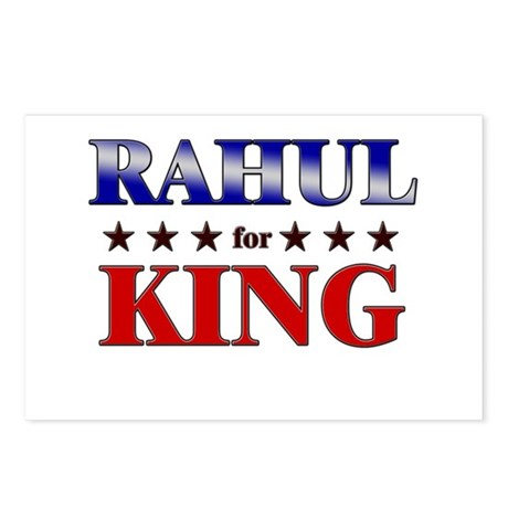 RAHUL for king Postcards (Package of 8)