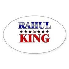 RAHUL for king Oval Decal