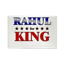 RAHUL for king Rectangle Magnet