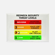 REDNECK SECURITY THREAT Rectangle Magnet