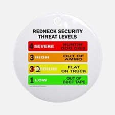 REDNECK SECURITY THREAT Ornament (Round)