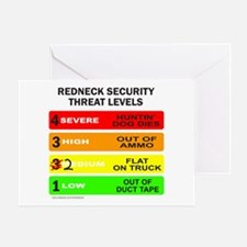 REDNECK SECURITY THREAT Greeting Card