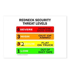 REDNECK SECURITY THREAT Postcards (Package of 8)
