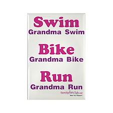 Triathlon Grandma Rectangle Magnet (10 pack)
