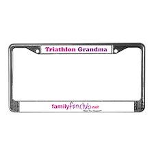 Triathlon Grandma License Plate Frame