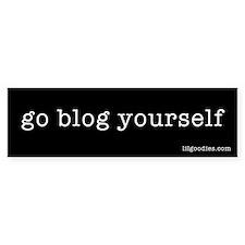 Go Blog Yourself Bumper Bumper Sticker