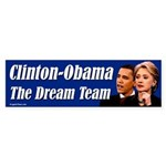 Clinton-Obama Dream Team Bumper Sticker