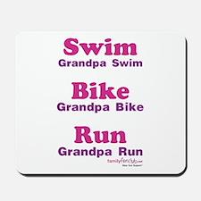 Triathlon Grandpa Mousepad