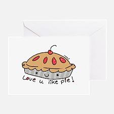 like pie Greeting Card