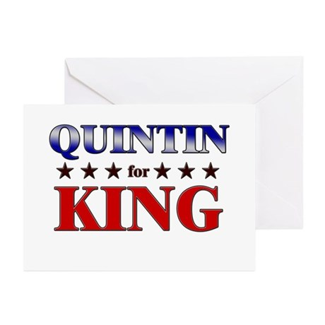 QUINTIN for king Greeting Cards (Pk of 10)