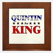 QUINTIN for king Framed Tile