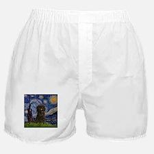 Starry Night & Affenpinscher Boxer Shorts