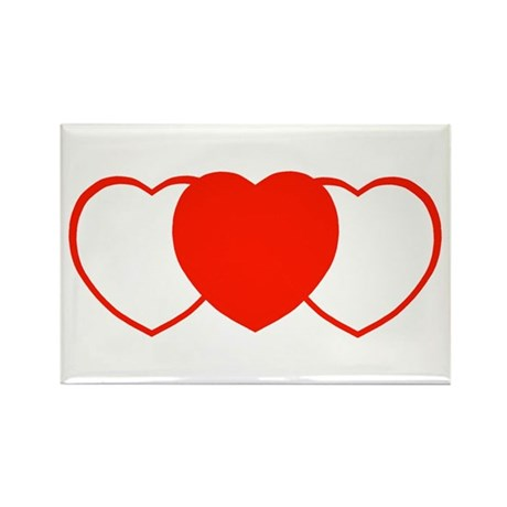 Sport Hearts Rectangle Magnet