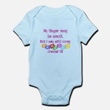 My finger may be small but... Infant Bodysuit