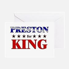 PRESTON for king Greeting Card