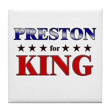 PRESTON for king Tile Coaster