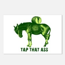 Tap That Ass Donkey Beer Keg Postcards (Package of