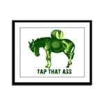 Tap That Ass Donkey Beer Keg Framed Panel Print