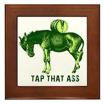 Tap That Ass Donkey Beer Keg Framed Tile