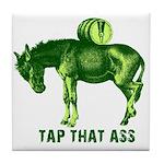 Tap That Ass Donkey Beer Keg Tile Coaster