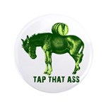 """Tap That Ass Donkey Beer Keg 3.5"""" Button (100 pack"""