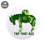 """Tap That Ass Donkey Beer Keg 3.5"""" Button (10 pack)"""