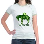 Tap That Ass Donkey Beer Keg Jr. Ringer T-Shirt