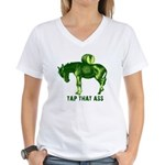 Tap That Ass Donkey Beer Keg Women's V-Neck T-Shir
