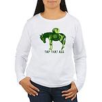 Tap That Ass Donkey Beer Keg Women's Long Sleeve T