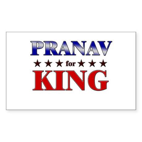 PRANAV for king Rectangle Sticker