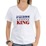 PIERRE for king Women's V-Neck T-Shirt