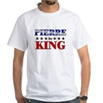 PIERRE for king White T-Shirt