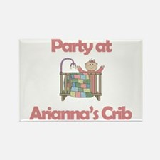 Party at Arianna's Crib Rectangle Magnet